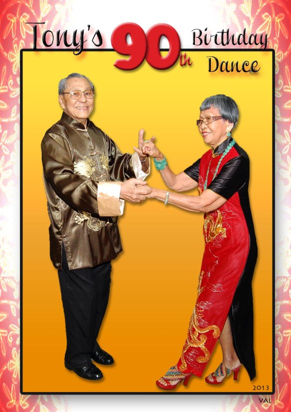 Tony (90) and Suzanne (88+) dance the night away...