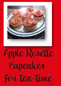 Apple-Rosette Cupcakes for tea time