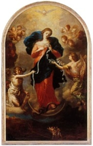 Image of Mary Undoer of Knots painting (from Wikipedia)