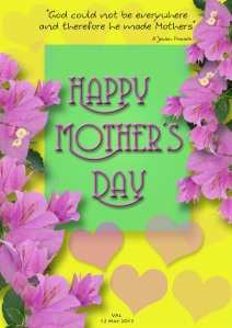 Mother's day card for blog