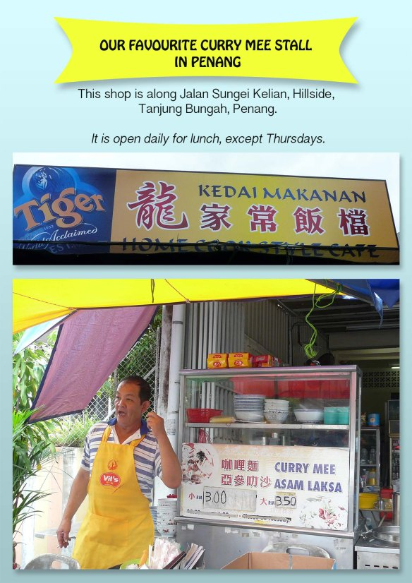 Curry mee shop in Tg Bungah, Pg